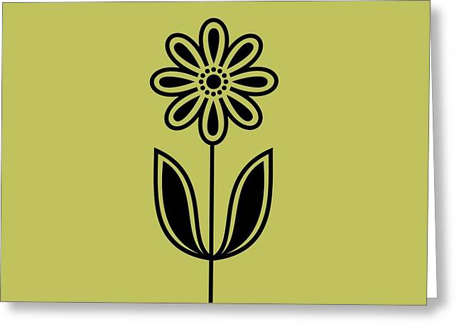 Avocado Green Greeting Cards - Phone Case Flower 2 on Avocado Greeting Card by Donna Mibus