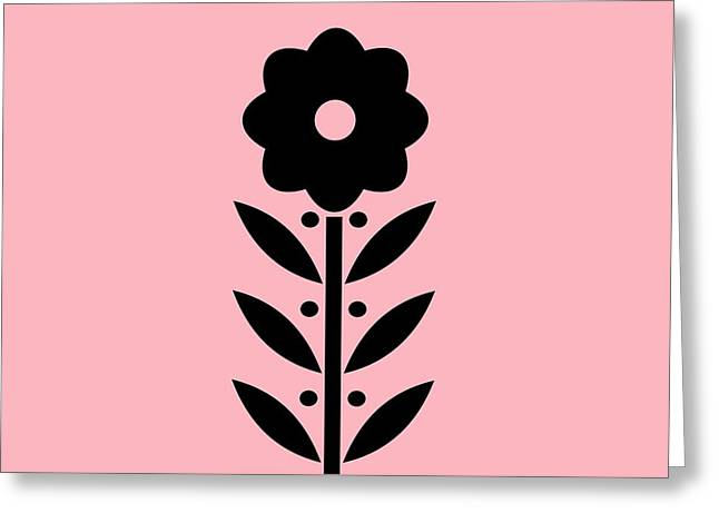 Cellphone Digital Art Greeting Cards - Phone Case Flower 8 on Pink Greeting Card by Donna Mibus
