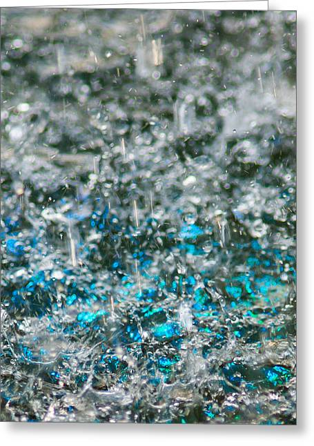 Wrapped Around Greeting Cards - Phone Case - Liquid Flame - Blue 2 Greeting Card by Alexander Senin