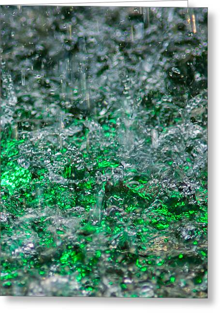 Phone Case - Liquid Flame - Green 2 - Featured 2 Greeting Card by Alexander Senin
