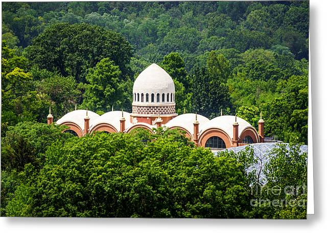 Dome Greeting Cards - Photo of Elephant House at Cincinnati Zoo Greeting Card by Paul Velgos