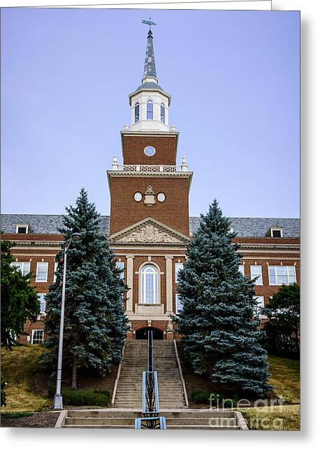 Institution Greeting Cards - Photo of McMicken Hall at University of Cincinnati Greeting Card by Paul Velgos