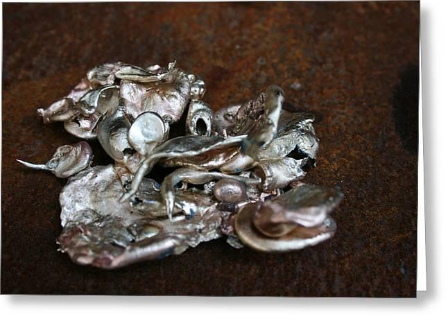 Photo Of Mixed Metal Sculpture Greeting Card by Matthew Brzostoski