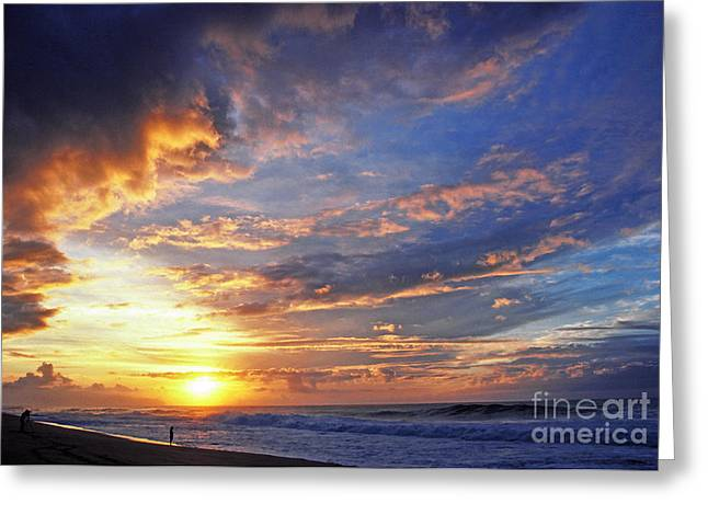 Beach Photos Digital Greeting Cards - Photo Shoot Sunset Banzai Beach Greeting Card by Thomas R Fletcher