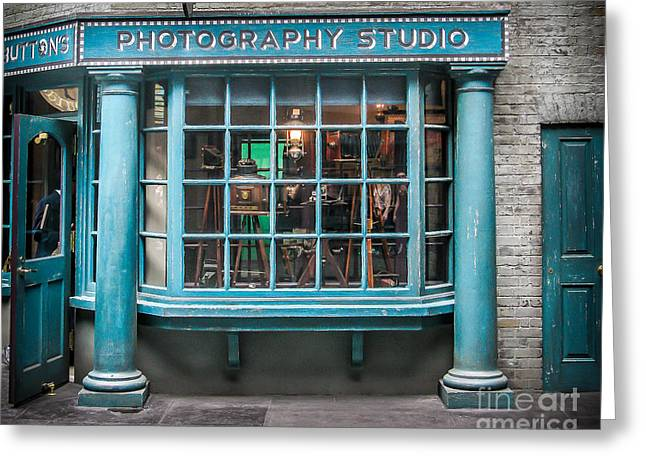 Store Fronts Greeting Cards - Photo Studio Greeting Card by Perry Webster