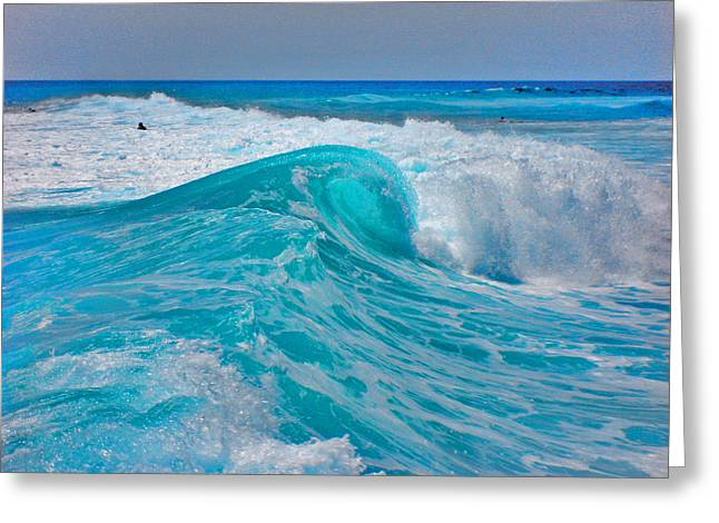 Surfing Photos Digital Art Greeting Cards - Photo Triptych. Ebb. Wave. Flow. Part 2.  Center. Greeting Card by Andy Za