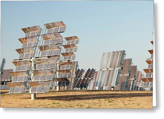 Photo Voltaic Panels Greeting Card by Ashley Cooper