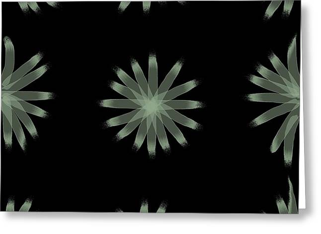 Becky Digital Art Greeting Cards - PhotoArt Green and Black Greeting Card by Becky Hayes