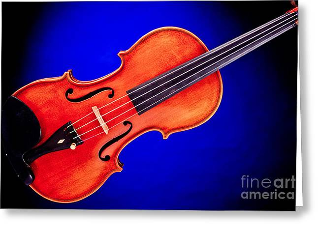 Still Life Photographs Greeting Cards - Photograph of a complete Viola Violin in Color 3370.02 Greeting Card by M K  Miller