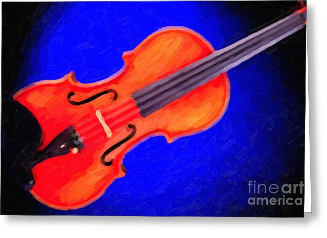 Still Life Photographs Greeting Cards - Photograph of a complete Viola Violin Painting 3371.02 Greeting Card by M K  Miller
