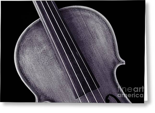 Still Life Photographs Greeting Cards - Photograph of a Upper Body Viola Violin in Sepia 3369.01 Greeting Card by M K  Miller