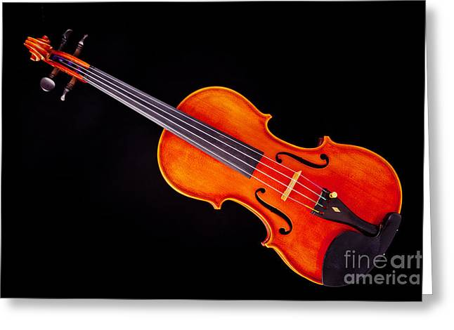 Still Life Photographs Greeting Cards - Photograph of a Viola Violin Antique in Color 3376.02 Greeting Card by M K  Miller