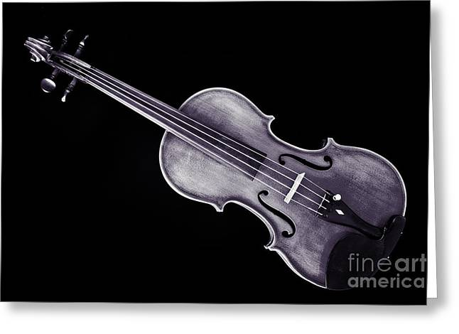 Still Life Photographs Greeting Cards - Photograph of a Viola Violin Antique in Sepia 3376.01 Greeting Card by M K  Miller
