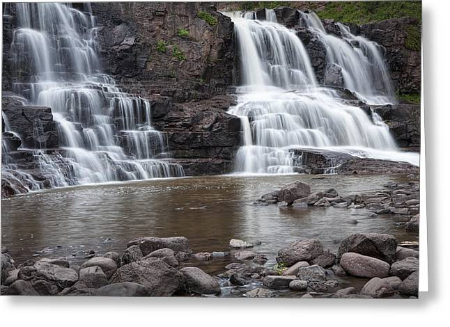 Randy Greeting Cards - Photograph of Lower Gooseberry Falls in Minnesota Greeting Card by Randall Nyhof