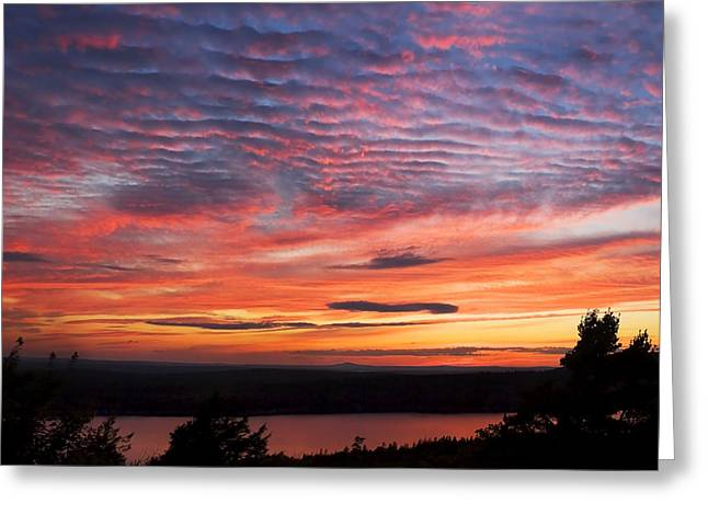 Acadia National Park Greeting Cards - Photograph Of Sunset Eagle Lake Acadia National Park Photograph Greeting Card by Keith Webber Jr