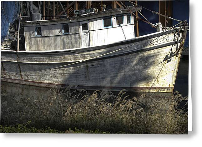 Randy Greeting Cards - Photograph of the Boat named the Jenny used in the Movie Forest Gump Greeting Card by Randall Nyhof