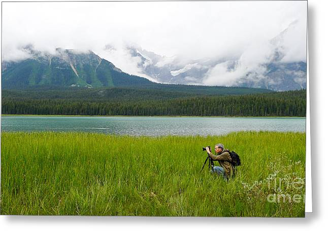 Banff Greeting Cards - Photographer Edward M. Fielding in the Field Greeting Card by Edward Fielding