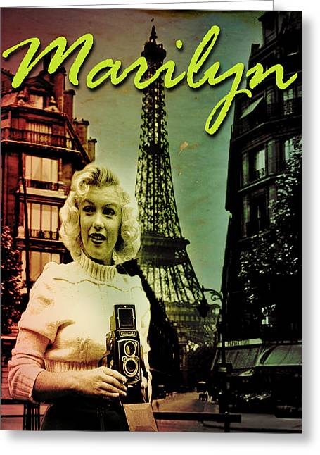 Norma Jean Greeting Cards - Photographer Marilyn Greeting Card by Greg Sharpe