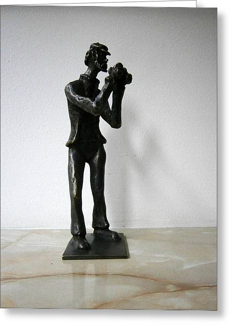 Realism Sculptures Greeting Cards - Photographer Greeting Card by Milen Litchkov