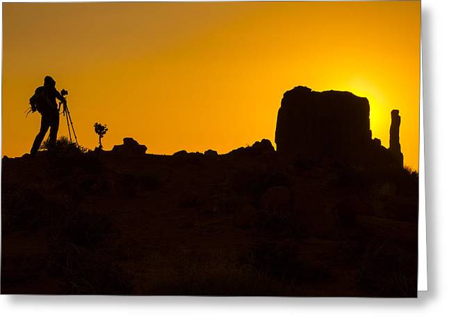 Navajo Tribal Park Greeting Cards - Photographer Monument Valley Greeting Card by Garry Gay