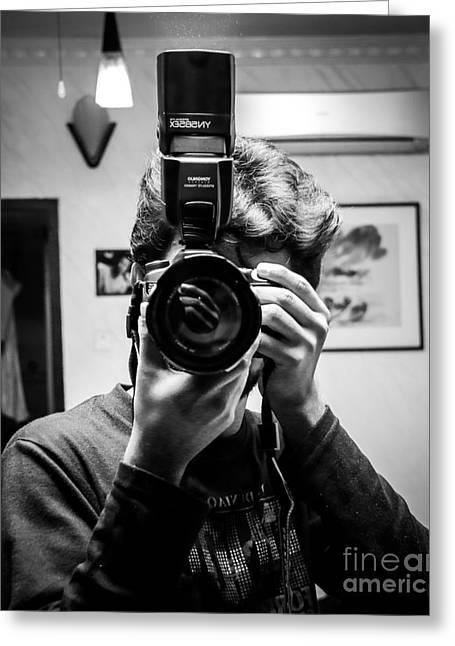 Camera Pyrography Greeting Cards - Photographers Life Greeting Card by AbHi AdHikary