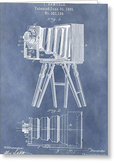 First-class Digital Art Greeting Cards - Photographic Camera Patent Greeting Card by Dan Sproul