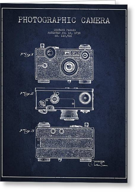 Decor Photography Greeting Cards - Photographic Camera Patent Drawing from 1938 Greeting Card by Aged Pixel