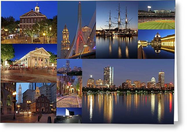 Boston Photos Greeting Cards - Photos of Boston Historic Landmarks Greeting Card by Juergen Roth