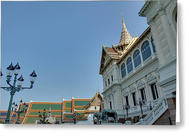 Palace Greeting Cards - Phra Thinang Chakri Maha Prasat - Grand Palace in Bangkok Thailand - 01132 Greeting Card by DC Photographer