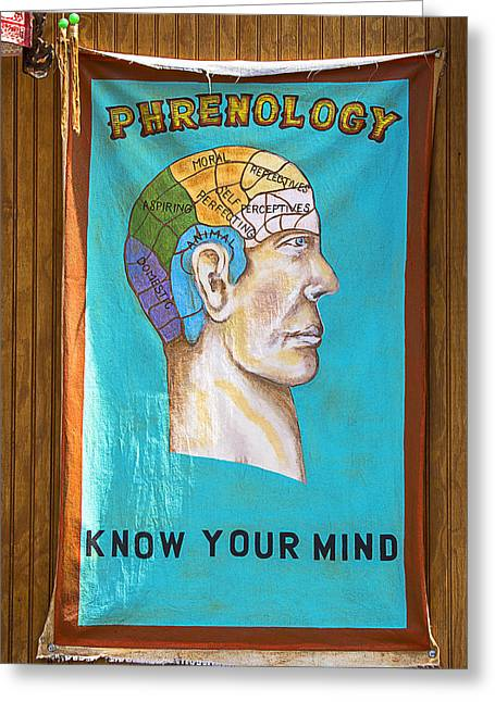 Chin Greeting Cards - Phrenology Greeting Card by Garry Gay