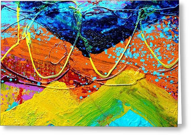 Phthalo Chevron Greeting Card by John  Nolan