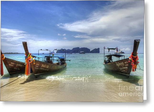Photos Of The Ocean Greeting Cards - Phuket Koh Phi Phi Island Greeting Card by Bob Christopher
