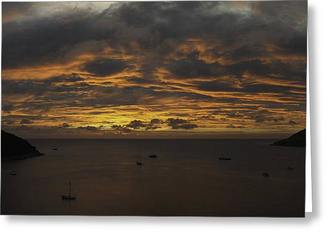 Phuket Greeting Cards - Phuket Sunset Greeting Card by Alex Dudley