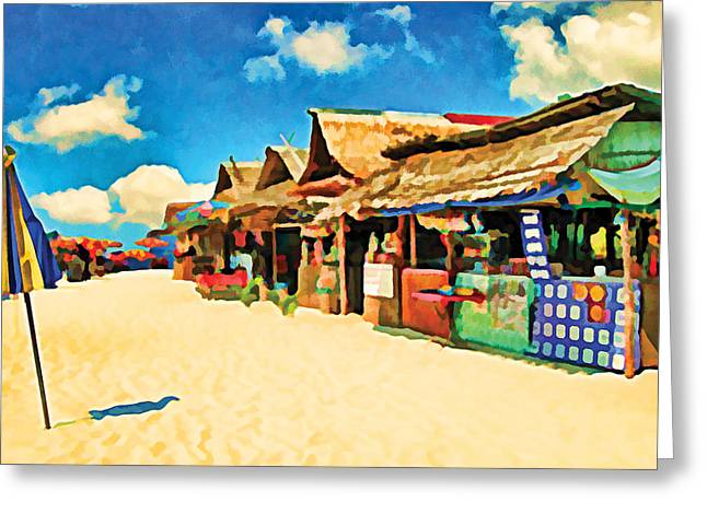 Phuket Greeting Cards - Phuket Thailand Beach Greeting Card by Flo Karp