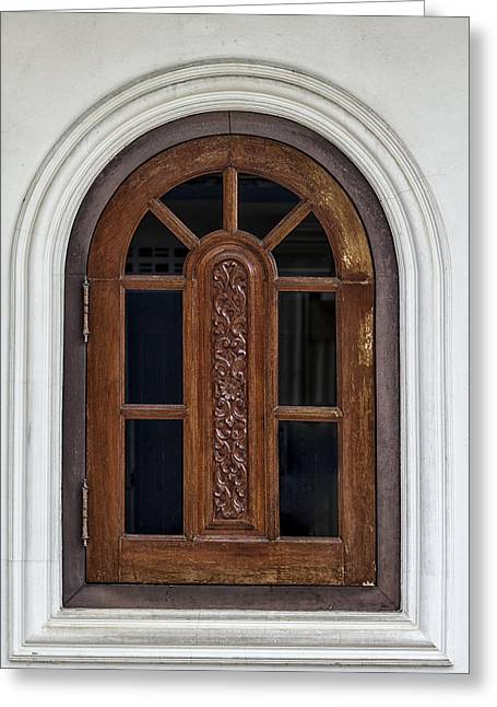 Symetrical Greeting Cards - Phuket Town Window Greeting Card by Nomad Art And  Design