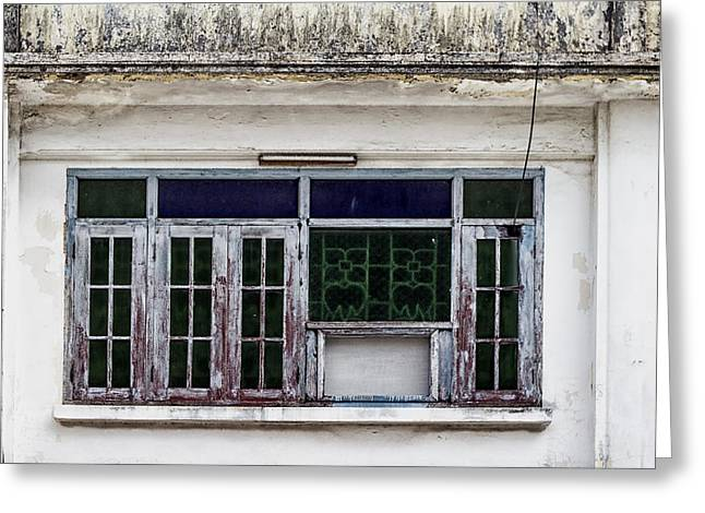 Symetrical Greeting Cards - Phuket Windows - Five Greeting Card by Nomad Art And  Design