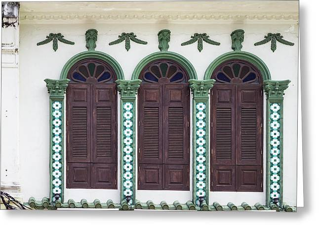 Symetrical Greeting Cards - Phuket Windows - Four Greeting Card by Nomad Art And  Design