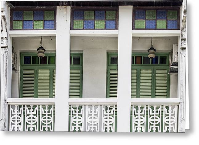 Symetrical Greeting Cards - Phuket Windows - Ten Greeting Card by Nomad Art And  Design
