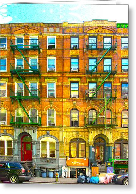 Led Zeppelin Artwork Greeting Cards - Physical Graffiti houses Greeting Card by Adam Workman