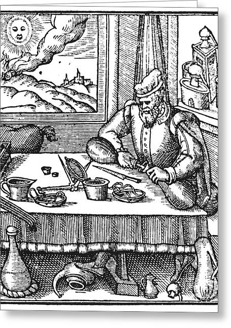 1576 Greeting Cards - Physician, 1576 Greeting Card by Granger