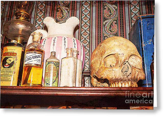 The Shadow Of Death Greeting Cards - Physician Heal Thyself Greeting Card by Janice Rae Pariza