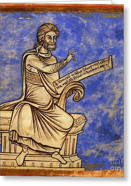 Hippocratic Greeting Cards - Physician With A Scroll, 12th Century Greeting Card by British Library