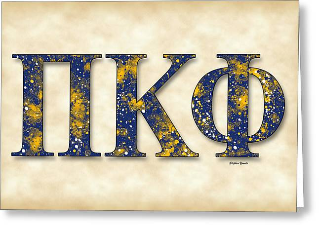 Share Experiences Greeting Cards - Pi Kappa Phi - Parchment Greeting Card by Stephen Younts