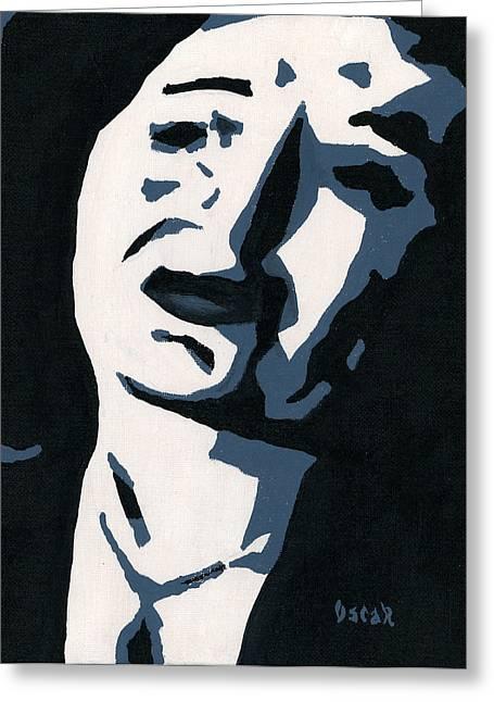 Edith Piaf Greeting Cards - Piaf  Greeting Card by Oscar Penalber