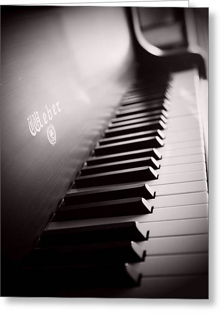 Sprague Greeting Cards - Piano at the Sprague House Greeting Card by Toni Hopper