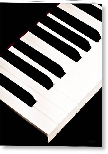 Piano Greeting Card by Bob Orsillo