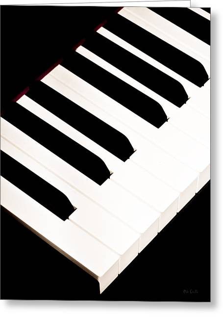 Keyboard Photographs Greeting Cards - Piano Greeting Card by Bob Orsillo