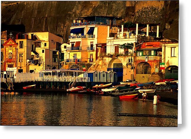 Amalfi Sunset Greeting Cards - Piano di Sorrento Greeting Card by Nancy Robinson