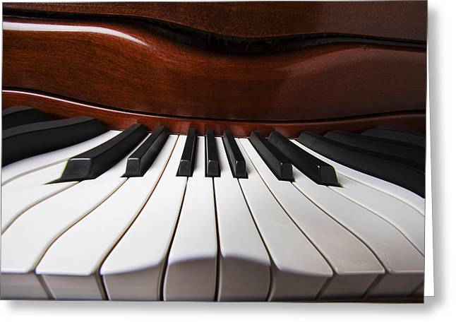 Piano Keys Greeting Cards - Piano Dreams Greeting Card by Garry Gay