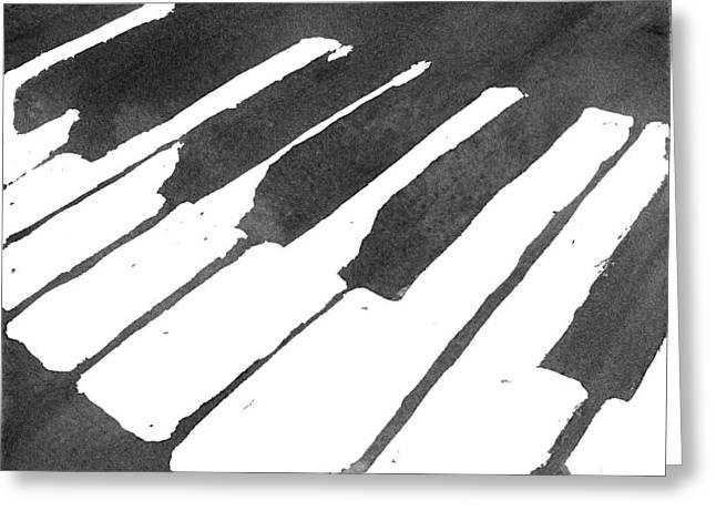Indoor Drawings Greeting Cards - Piano Keys Greeting Card by Calvin Durham
